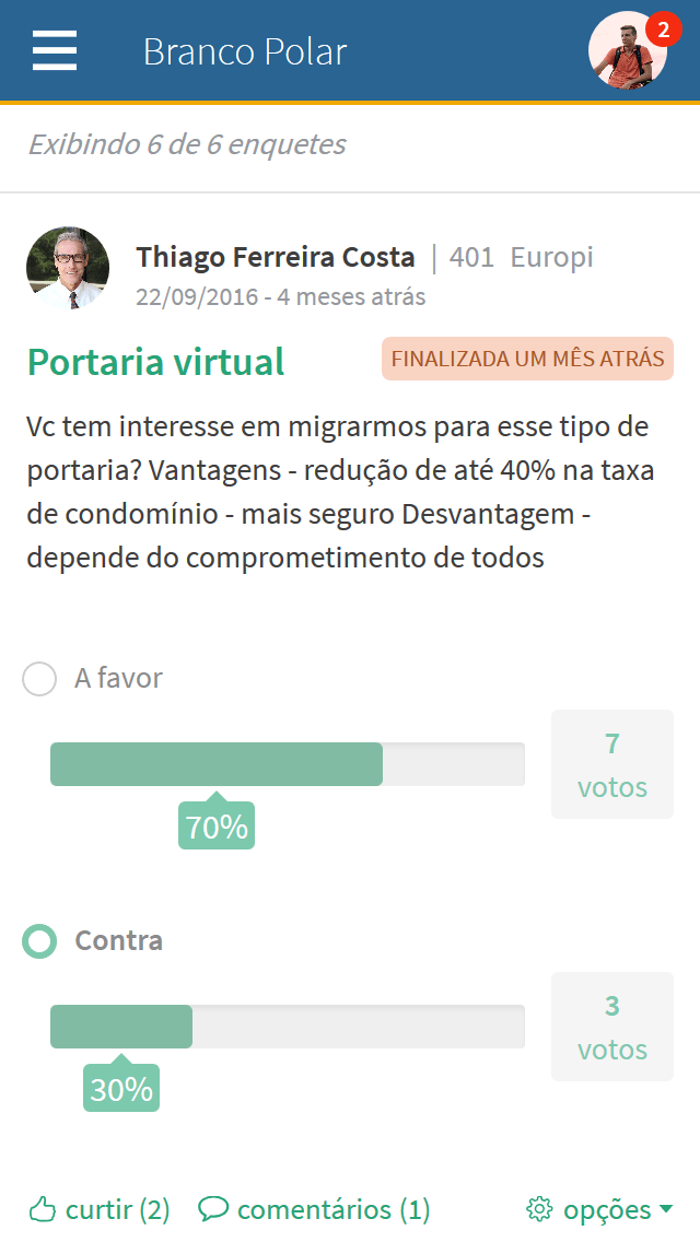 Print mobile interno visualizar enquete